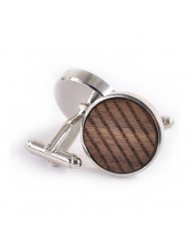 Mens Round Business Personality Pattern Printing French Shirt Cufflinks Dress Cuffs Suit Cuff Button