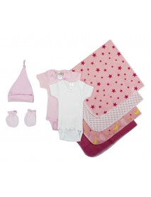 Bambini Essential Newborn Baby Girl 8 Piece Layette Set