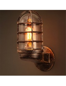 Retro Industrial Unique Wall Light Iron Rustic Lamp Sconce Hallway Patio Lantern Lamp Cover