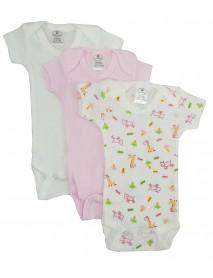 Bambini Preemie Girls Printed Short Sleeve Variety Pack
