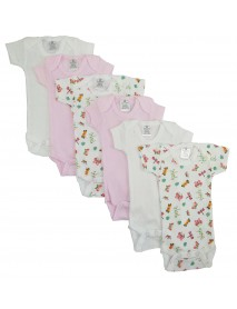 Bambini Preemie Girls Printed Short Sleeve 6 Pack