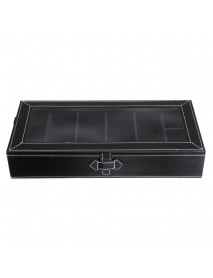 5 Grids Glasses Storage Box +2 Grids Watch Storage Box Display Case PU Leather