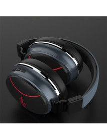 Bakeey Wireless bluetooth Headphone LED Light Gaming Headset Foldable TF Card AUX Stereo Headphone With Mic