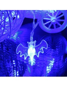 20 Blue LED Bats Light Halloween Party Decration Lights