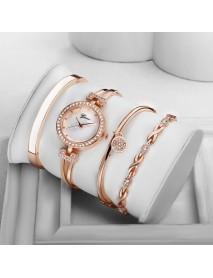 4 Pcs Fashion  Suit Ladies Bracelet Watch