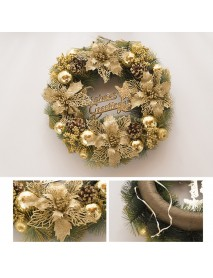 12'' Luxury Golden Christmas Party Door Window Artificial Wreath Xmas Home Decorations
