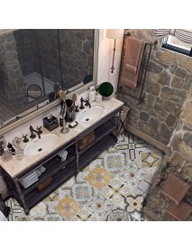 Floor Tiles Diagonal Wall Stickers Desk Wardrobe Decoration Art Mural Bathroom Waist Line PVC Wall Decals