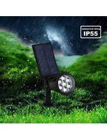 Solar Lights Outdoor 7 LED Solar Outdoor Color Changing Wall Light 180 Adjustable Garden Light