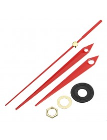 10pcs 20mm Shaft Length DIY Red Triangle Hands Silent Quartz Wall Clock Movement Mechanism For
