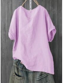 Cartoon Print O-neck Short Sleeve Women Casual T-shirts