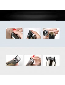 11 in 1 Wireless Electric Hair Clipper Shaver Multi-function Rechargeable Ears Beard Nose Hair Trimmer