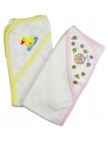 Bambini Infant Hooded Bath Towel (Pack of 2)
