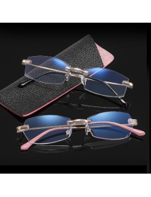 Anti-blue-light & Anti-ultraviolet Trimmed Frameless Presbyopic Glasses Metal Reading Glasses