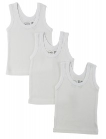 Bambini White Tank Top 3 Pack