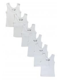 Bambini White Tank Top 6 Pack