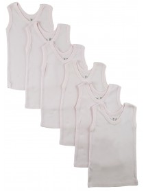 Bambini Pink Tank Top 6 Pack