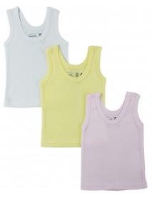 Bambini Girls Pastel Tank Top 3 Pack
