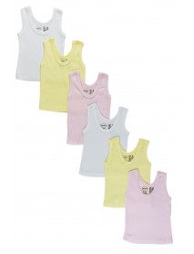 Bambini Girls's Six Pack Pastel Tank Top
