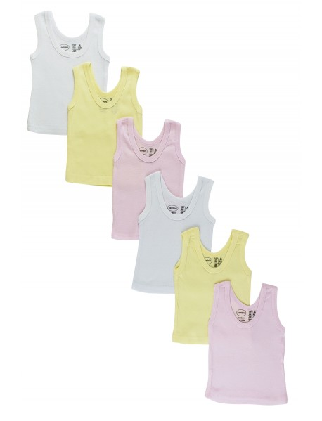 Bambini Girls's Six Pack Pastel Tank Top