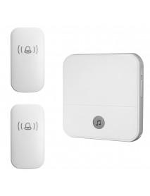 300M Waterproof LED Wireless Doorbell 52 Songs Chime Door Bell SOS EU/US/UK Plug 2Pcs Receiver