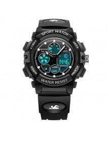 SANDA 116 Dual Display Digital Watch Children Colorful Alarm Luminous Calendar Stopwatch Sport Watch