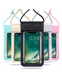 Universal Double Sealing Waterproof HD Touch Screen Phone Bag Pouch for iPhone Xiaomi