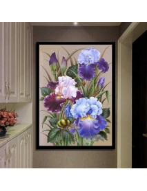 5D Full Drill Diamond Paintings Flower Bee Embroidery Cross Stitch Kit Home