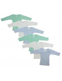 Bambini Boys Pastel Variety Long Sleeve Lap T-shirts  6 Pack