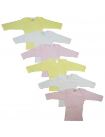 Bambini Girls Pastel Variety Long Sleeve Lap T-shirts  6 Pack