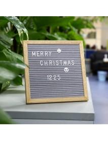 25.4*25.4cm Felt Letter Board Wooden Frame Message Board Sign Letter Holder