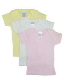 Bambini Girls Pastel Variety Short Sleeve Lap T-shirts - 3 Pack
