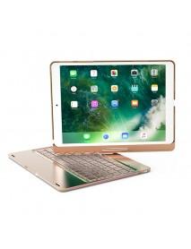 360 Rotation 7 Colors Backlight Bluetooth Aluminum Keyboard Case For iPad Pro 10.5