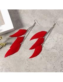Bohemian Feather Tassels Ear Drop Boho Colorful Earrings for Women