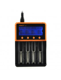 BORUiT C4 4 Slot Universal 18650 LCD Display AA AAA Li ion Rechargeable Battery Digital  Charger