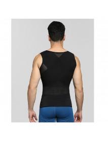 Men Thin Net Shapewear Tank Tops Tummy Control Nylon Breathable Hasp Waist Trainer Underwear