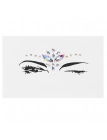 3D Acrylic Facial Decoration Rhinestone Sticker Stage Masquerade Fashion Show Makeup Decorations