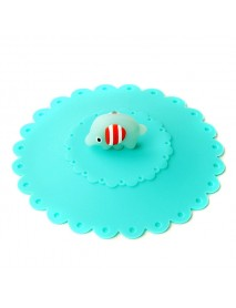 Cute Elephant Silicone Anti-dust Mug Cap Cup Lid Leakproof Cover