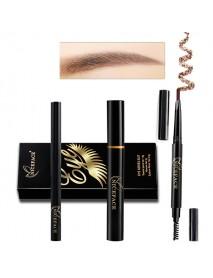 Eyes Makeup Set Liquid Eyelashes Mascara Double Head Eyebrow Pencil Long Lasting Waterproof