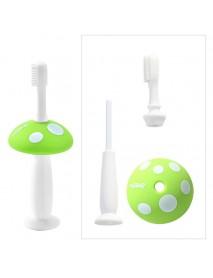 Cute Kids Baby Mushroom Shape Infant Soft Silicone Finger Toothbrush Teeth Massager Brush