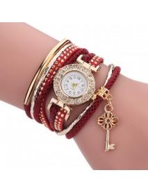 Fashion Ladies Dress Luxury Key Bracelet Vintage Women Quartz Watch
