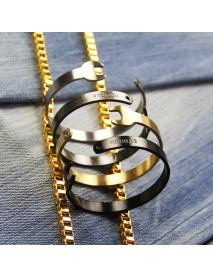 Fashion Titanium Steel Letters Men Bracelet Vintage Mechanical Wrench Open Bangle Bracelets for Men