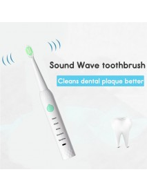 5 Modes Waterproof Sonic Electric Toothbrush USB Rechargeable 4 Heads Face Brush