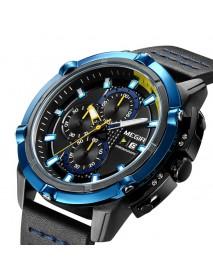 MEGIR 2062 Men Watch Sport Creative Chronograph Luminous Male Quartz Wrist Watch