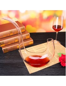 800ML Bottle Mouth Oblique-Harp Crystal Lead Free Pouring Alcohol Decanters