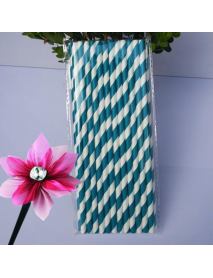 25Pcs Paper Straws For Birthday Wedding Decoration Party Straws Supply Creative Paper Drinking Straw