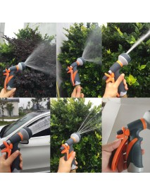 Garden Hose Nozzle 8 Spraying Way High Pressure Watering Sprayer Car Wash Handheld Shower Water Hose