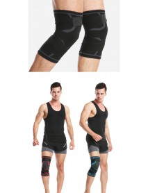 1Pcs Outdoor Sports Pressurized Splayed Cross Strap Knee Pad