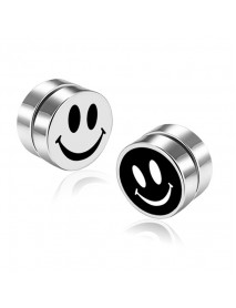 Fashion Magnetic No Pierced Mens Earring Stainless Steel Round Clip On Stud Earrings for Women