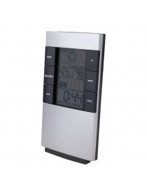 LCD Digital Thermometer Hygrometer Electronic Temperature Humidity Meter Clock Weather Station Clock