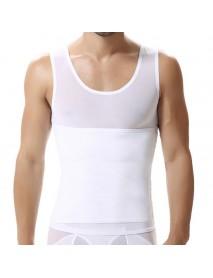 Mens Abdomen Body Shapewear Adjustable Tight Fitness Vest Corset